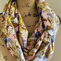 disney - princess - belle - beauty - and - the - beast - infinity  - scarf