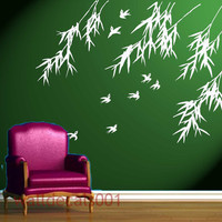 Wall Decals Wall stickers Art  birds with bamboo by walldecals001