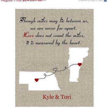 Best Long Distance Relationship Map Products On Wanelo - Us map distance