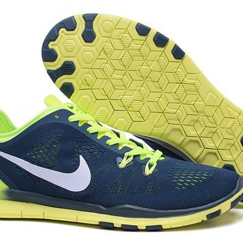 Nike Free TR FIT 5 Brthe Women's Training Shoes Clearwater Blue/Fluorescent Green