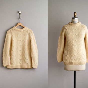 70s sweater / 1970s irish wool sweater / by VacationVintage