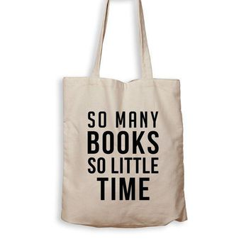 CREYMS2 So Many Books, So Little Time - Tote Bag