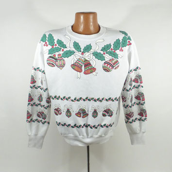Ugly Christmas Sweater Vintage Sweatshirt Xmas Tacky Holiday Size M