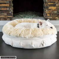 Animals Matter® Faux Fur Shag Puff® Orthopedic Luxury Dog Bed