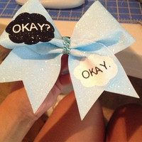 The fault in our stars neon blue cheer bow