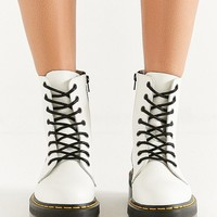 Dr. Martens Jadon 8 Eye Platform White Boot | Urban Outfitters
