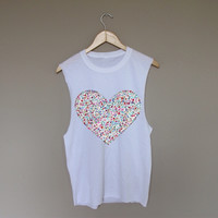 Floral Heart - White