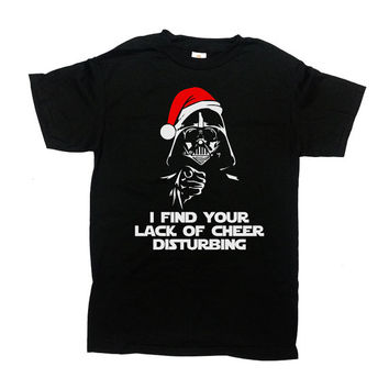 Funny Christmas Shirt I Find Your Lack Of Cheer Disturbing Christmas Gift Ideas Holiday T Shirt Gifts For Christmas Xmas T Shirt - SA510