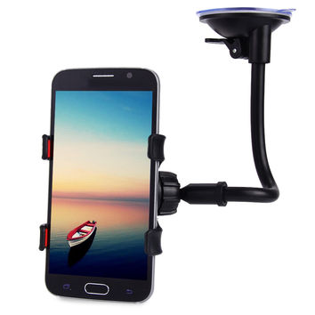 for iPhone 5S 4 Universal Long Arm 360 Degrees Rotation Windshield Dashboard Car Mount Holder Cradle System for iPhone 7 7Plus