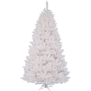 Sparkle White Pre-lit Christmas Tree with Metal Stand - Walmart.com