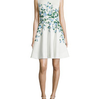 ERIN erin fetherston Suzie Floral-Print Fit-&-Flare Dress, Ivory/Multi