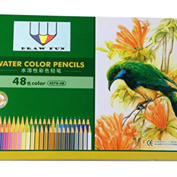 Drawfun 48 Color Art Pencils with Metal Case/ Drawing Pencils for Artist Sketch / Every Adult Coloring Book Professional Colored Drawing Pencil High Quality of 48 Assorted Colors.