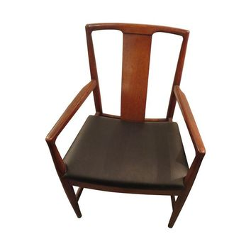 Pre-owned Black Vinyl Danish Modern Dining Chairs