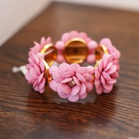Beautiful Blooms Bracelet in Pink