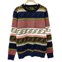 Fendi high quality new fashion more colorful letter couple long sleeve top sweater