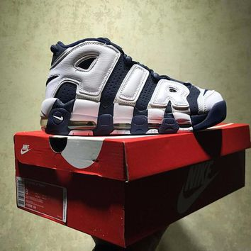Best Online Sale Nike Air More Uptempo Og Retro Sport Baskerball White Blue Sneaker 415082 104