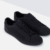 SINGLE COLOR TECHNICAL SNEAKERS New