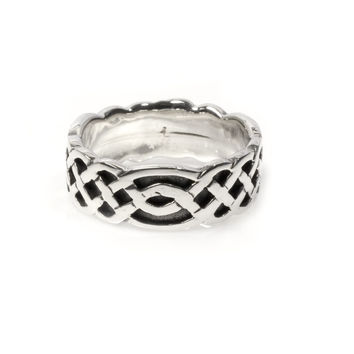 925 Sterling Silver Wiccan Weave Pagan Ring