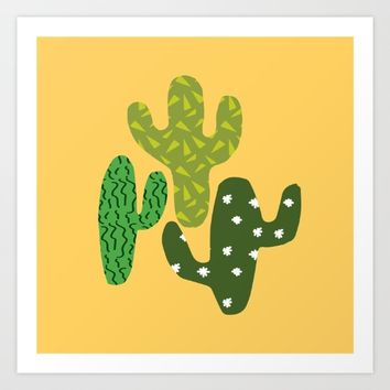 Cactus (Minimal) Art Print by Elly Whiley