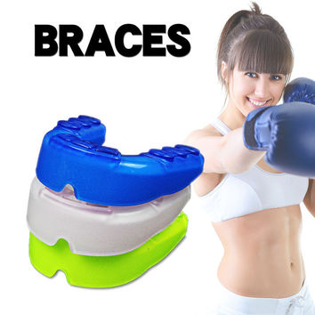 1PCS Sports Mouthguard Mouth Guard Gum shield Teeth Protect for MMA Boxing Basketball