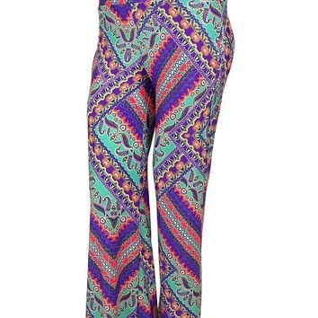 Kenneth Cole Women's Printed Desing Pants Cover ups