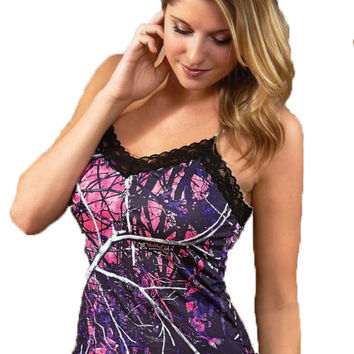 Wilderness Dreams Muddy Girl Camisole Trimmed with Black Lace