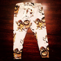 Where the wild things are organic cotton leggings you pick the size! (Up to 24months)