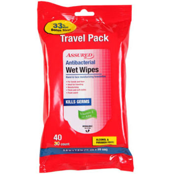 Bulk Assured Antibacterial Wet Wipes, 40-ct. Travel Packs at DollarTree.com