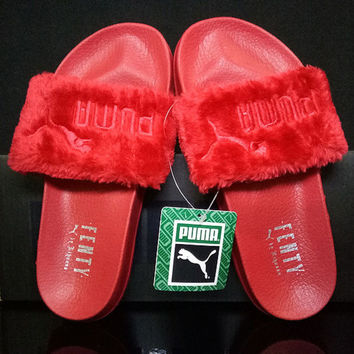 Puma Rihanna Leadcat Fenty Fashion Fur Slide Sandal Slipper Shoes