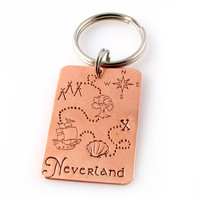 Neverland Map Key Chain