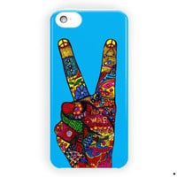 Peace No War Colorfuls Painting For iPhone 5 / 5S / 5C Case