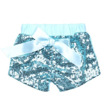 Girls Sparkle Sequin SHORTS Christmas sequin short Glittery Sequin Shorts Baby Girls Birthday Clothes Cake Smashing Outfit