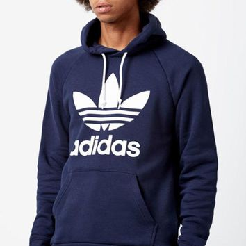 ONETOW adidas Trefoil Navy Pullover Hoodie at PacSun.com