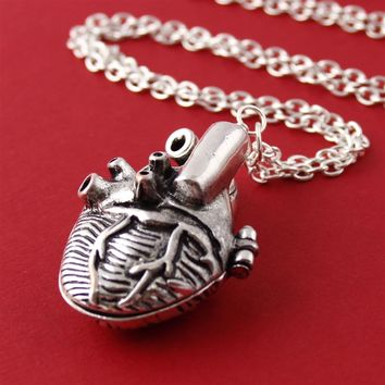 Anatomical Heart Locket Layering Necklace - Spiffing Jewelry