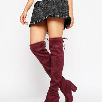 New Look High Leg Boot at asos.com