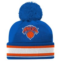 adidas New York Knicks Cuffed Knit Cap - Youth, Size: One Size (Blue)