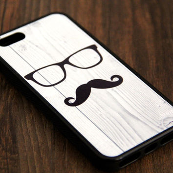 Mustache iPhone and Samsung Galaxy Rubber Case