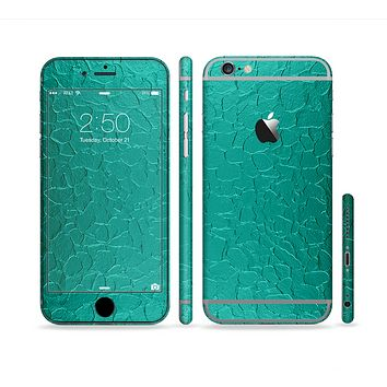 The Teal Stamped Texture Sectioned Skin Series for the Apple iPhone 6s Plus