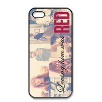 Taylor Swift Loving Him Was Red Snap on Case Hard Cover for Apple Iphone 5 5S +Screen Protector
