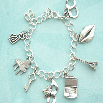 fifty shades of grey inspired charm bracelet