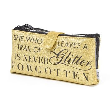 She Who Leaves a Trail of Glitter is Never Forgotten Cosmetic Bag | Icing