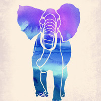 Watercolor Elephant Art Print by Jacqueline Maldonado | Society6