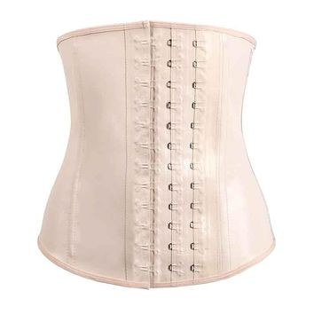 50PCS/LOT Latex Waist Trainer Latex Corset Steel Bone Waist Corsets Top Waist Cincher Plus Size Corselet  Rubber
