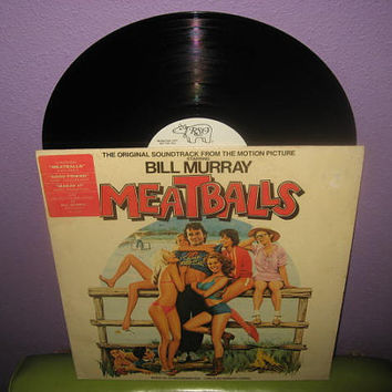 Rare Vinyl Record Meatballs Original Soundtrack LP 1979 Bill Murray Comedy Classic