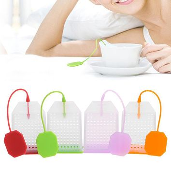 New Teabags Bag Shape Silicone Tea Infuser Filter Teapot Loose Tea Strainer Filter Herbal Loose Tea Spice Diffuser Kitchen Tool