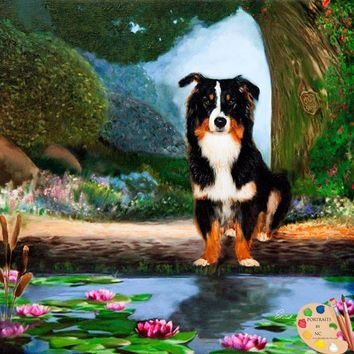 Border Collie Dog Portrait 230