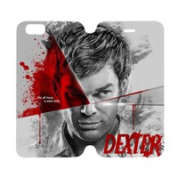 DEXTER Wallet Case for iPhone 4/4S 5/5S/SE 5C 6/6S Plus Samsung Galaxy S4 S5 S6 Edge Note 3 4 5
