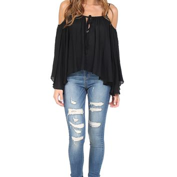Black Cold Shoulder Top at Blush Boutique Miami - ShopBlush.com : Blush Boutique Miami – ShopBlush.com