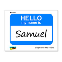 Samuel Hello My Name Is Sticker