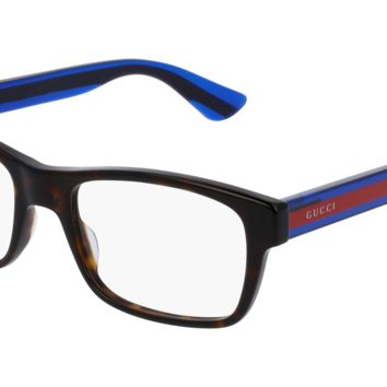 Gucci - GG0006O-003 Avana Blue Eyeglasses / Demo  Lenses